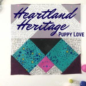 Puppy Love Quilt Block | Heartland Heritage