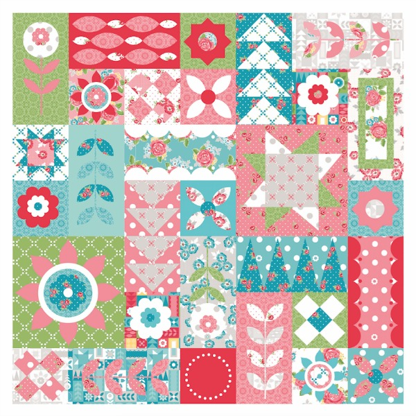 It's Day 1 of the Friendship Quilt Along and I'm sharing the Fun Block. Come sew with us. Pattern by Amanda Herring.
