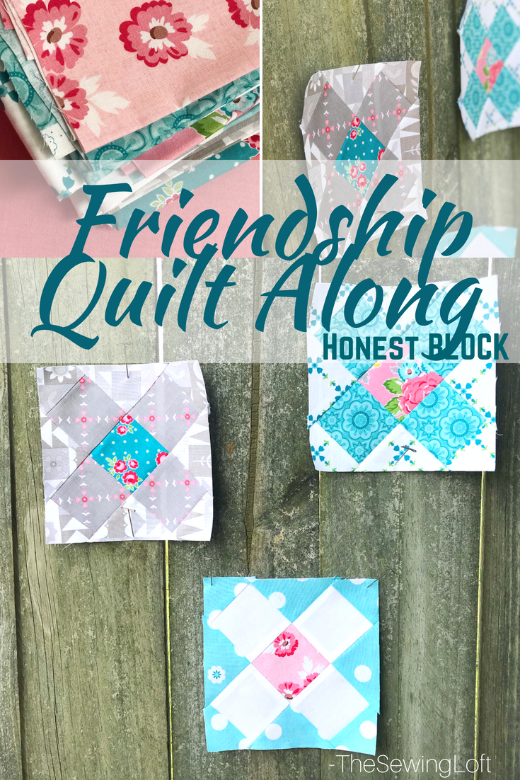 This week is all about the honest quilt block in the Friendship Quilt Along. Each block is easy to make and perfect for building your quilting skills.