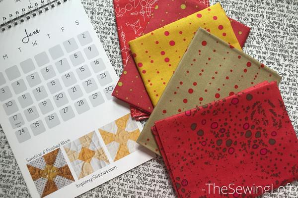 Sunshine quilt block fabric pull | Heartland Heritage