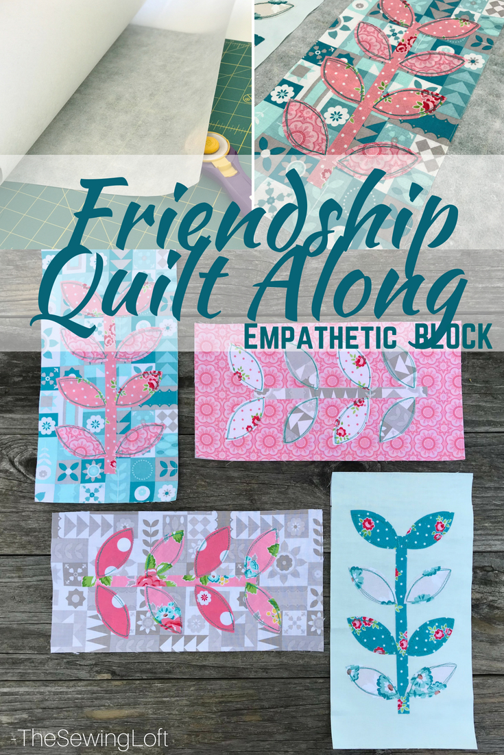 Keep your sewing fun and playful with this weeks Empathetic quilt block from the Friendship Quilt pattern. The applique design is the perfect canvas to practice your quilting skills.