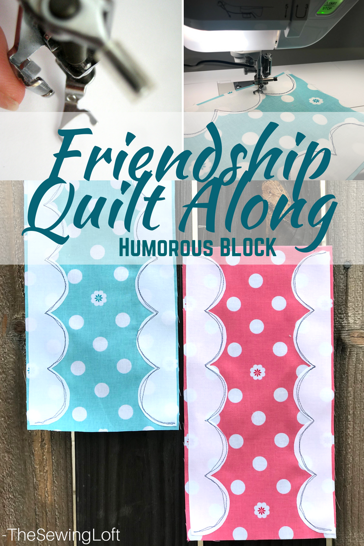 See how easy it is to create curved applique shapes while making the humorous  quilt block for the Friendship Quilt Along