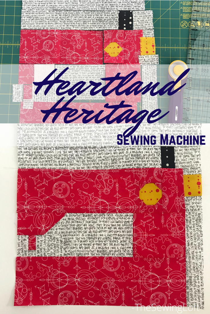 Sewing Machine Quilt Block | Heartland Heritage