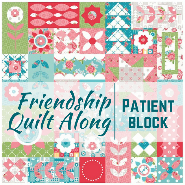 This week is all about the patient quilt block in the Friendship Quilt Along. Each block is easy to make and perfect for building your quilting skills.