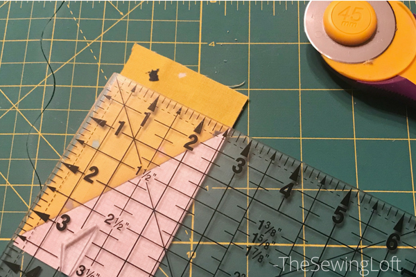 Trimming up half square rectangle units | Save the Bees Quilt Along