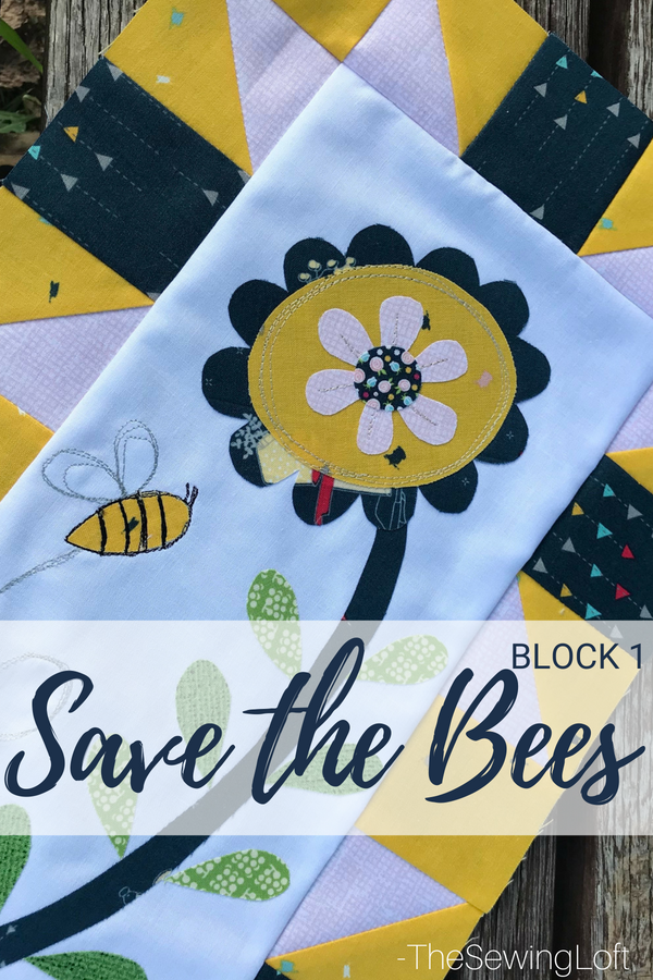 Join me and a few friends for the Save the Bees quilt along. Each block offers a fun applique design for you to stitch out.