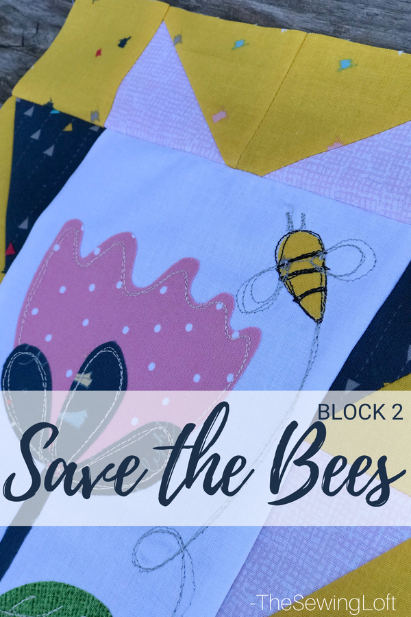 Improve your quilting skills while sewing with friends in the Save the Bees quilt along. Each month, I'll share a new block and a fun giveaway.