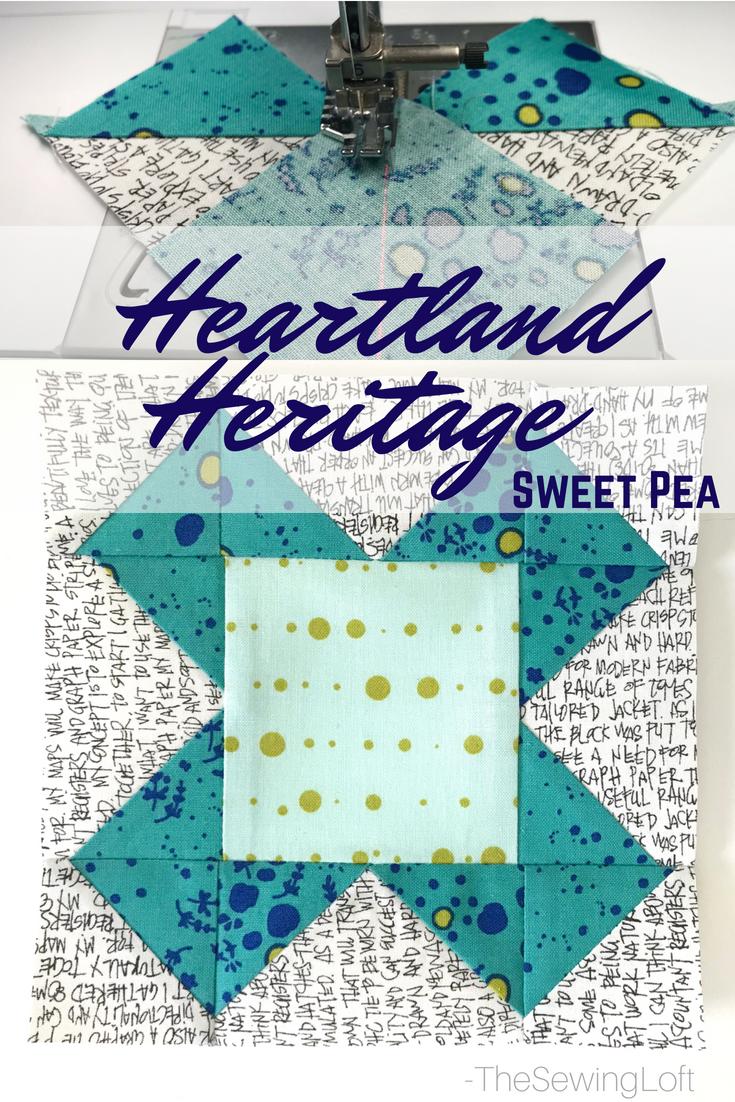 Sweet Pea Quilt Block | Heartland Heritage