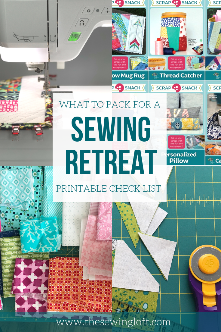 Don't stress about packing for your next sewing or quilting retreat. Instead, print off this packing list and start the prep work.