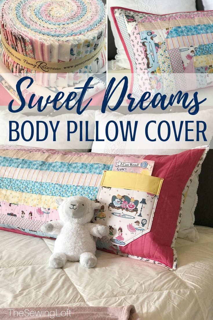 Create a special space with this Sweet Dreams Body Pillow. Easy to make for the special little girl in your life.
