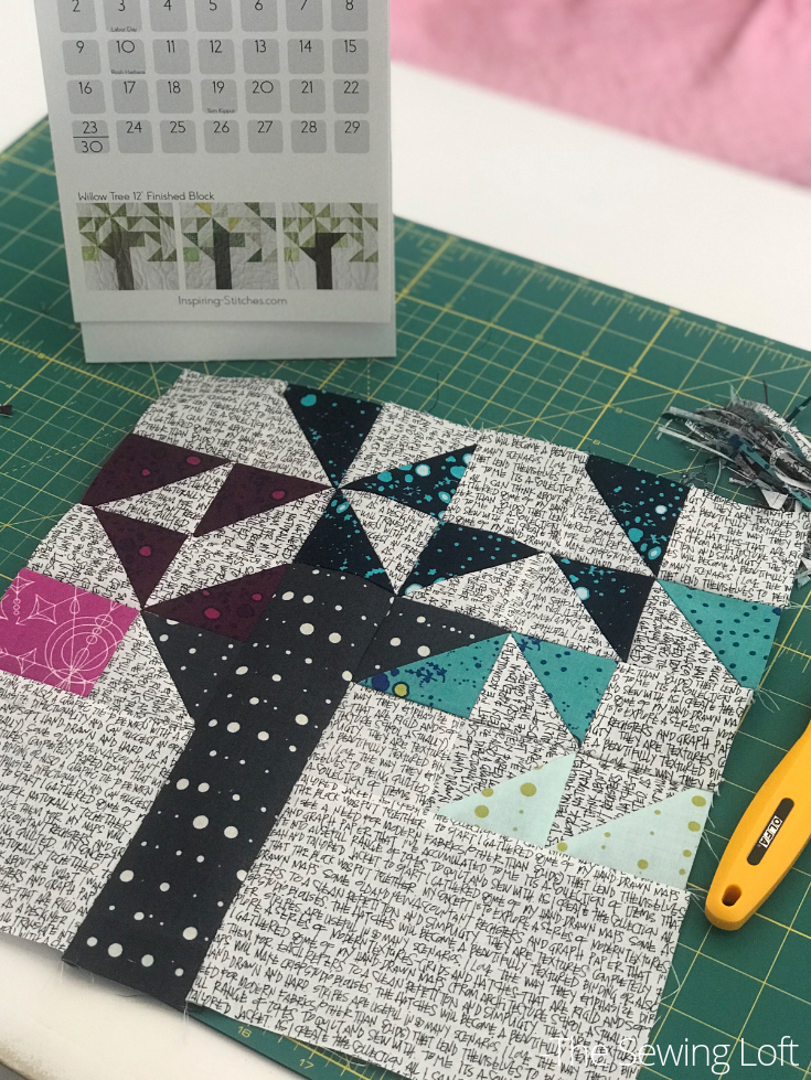 Experiment with color on your Willow Tree Quilt Block from Heartland Heritage.