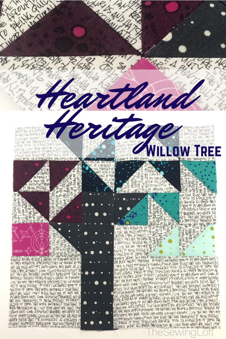 The willow tree quilt block from Heartland Heritage is such a cute design, easy to make and great for scraps. Learn easy tips to ensure sewing success.