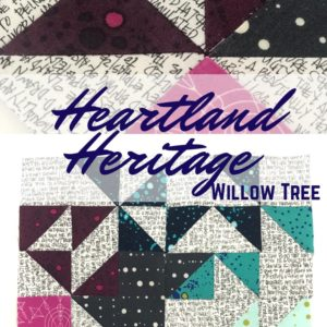 The Willow Tree Quilt block is perfect for experimenting with color and pattern. This block will sharpen your HST skills to the max!