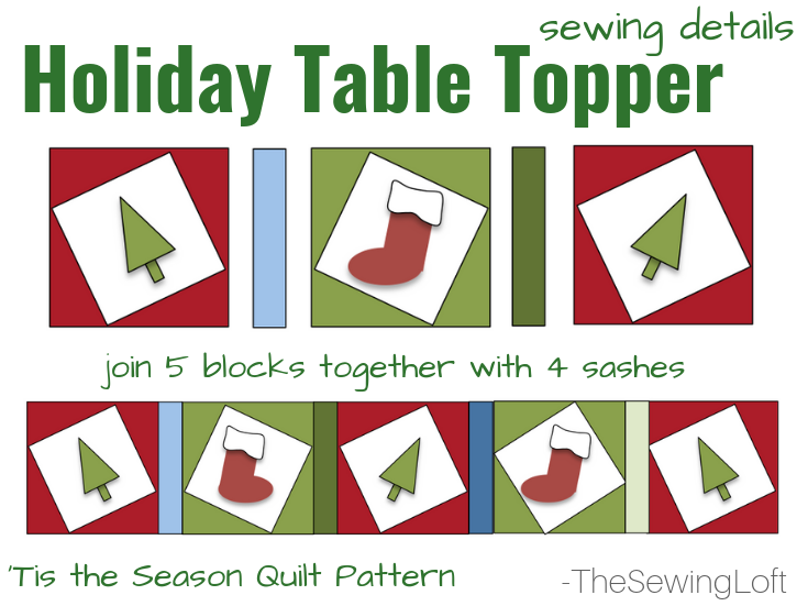 Create this holiday table topper while learning a new twist on block making, applique techniques and see a demo on free motion stitching in the Tis the Season Quilt class.