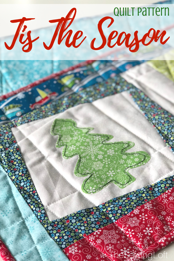 Learn a new twist on block making, applique techniques and see a demo on free motion stitching in the Tis the Season Quilt class.