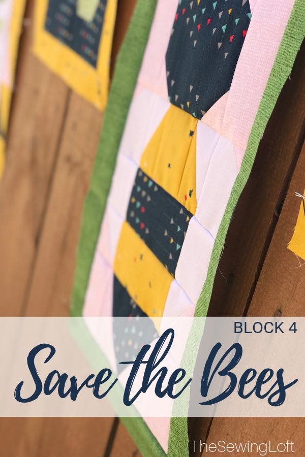 Save The Bees Block Sew Along