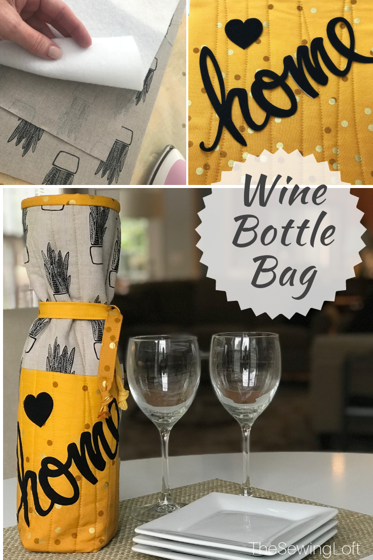 Wrap your favorite bottle of wine in this easy to make wine bottle bag for an extra special gift!