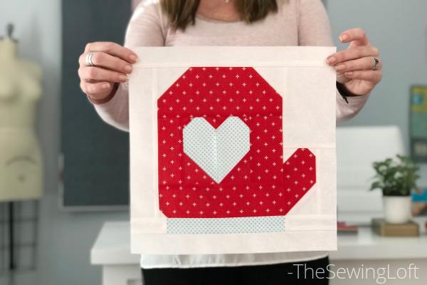 Mitten Quilt Block Pattern | The Sewing Loft