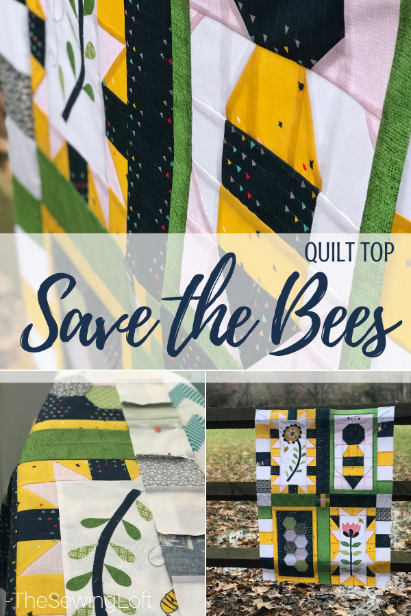 New layout for the Save the Bees quilt blocks. Free Pattern