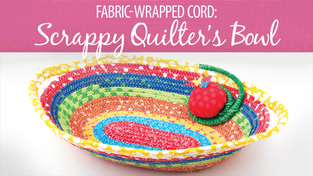 Grab your fabric scraps and join me in class for this easy it is to make fabric wrapped corded bowl. You'll learn how to create and sew the wrapped cord.