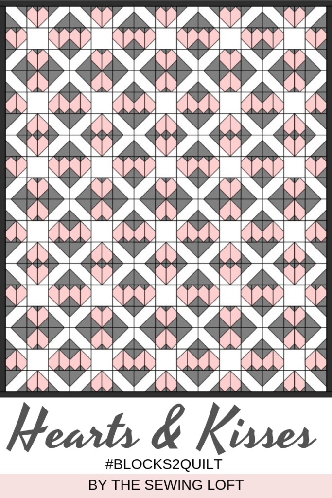 Hearts & Kisses Quilt Block Pattern | Blocks 2 Quilt by The Sewing Loft