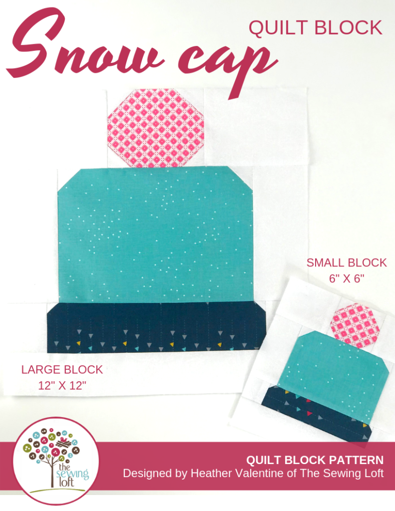 Snow Cap Quilt Block | The Sewing Loft Blocks 2 Quilt