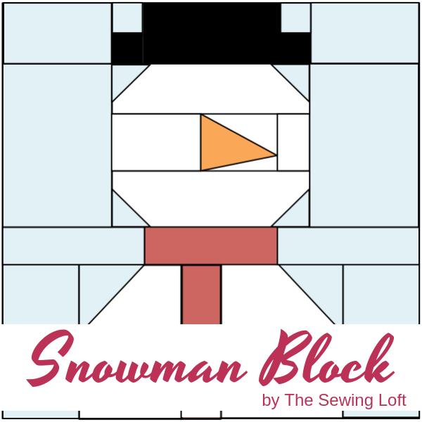 Snowman Quilt Block Pattern | The Sewing Loft Blocks2Quilt series