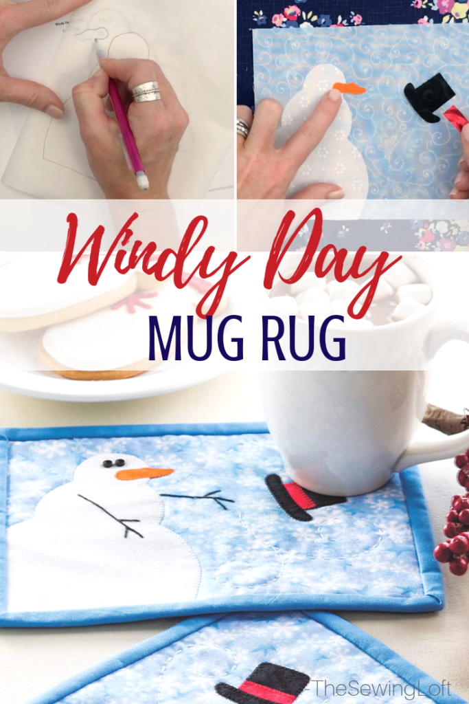The Windy Day mug rug is a quick hitter project that is perfect for beating the cold winter blues away. Design includes applique and hand embroidery.