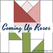 Coming Up Roses Patchwork Quilt Block by The Sewing Loft