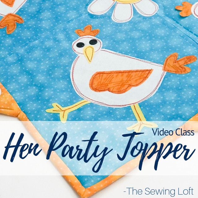 Turn your table topper into a conversation started with this cheeky pattern. The Hen Party Table Topper. Video Class with step by step instructions.
