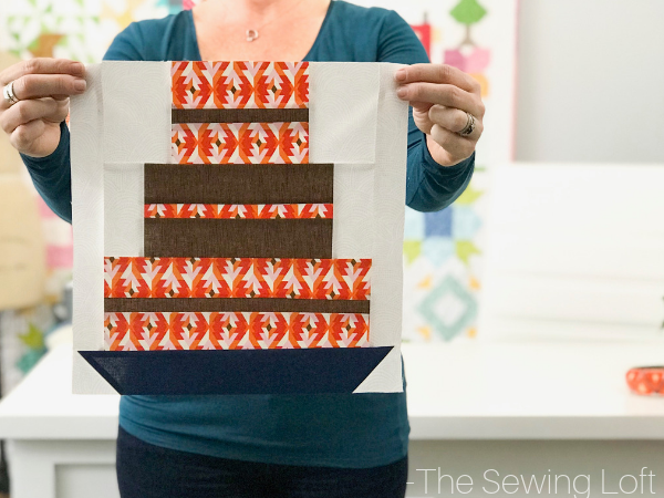 Celebrate with a slice of cake! This easy to make patchwork quilt block is available to download in 2 sizes.
