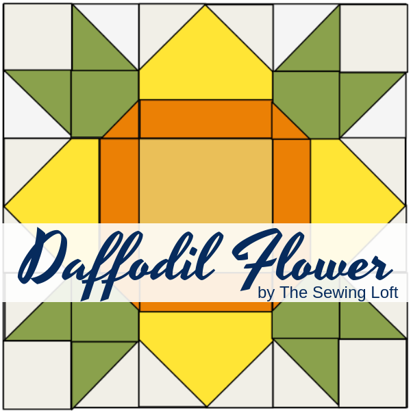 Daffodil Flower Block | Blocks 2 Quilt Series by The Sewing Loft