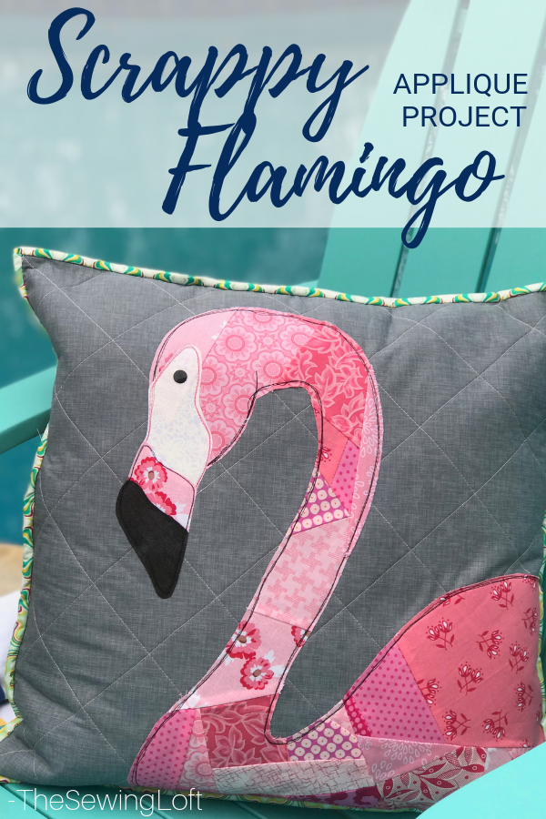 Scrappy Flamingo Pillow Project | The Sewing Loft