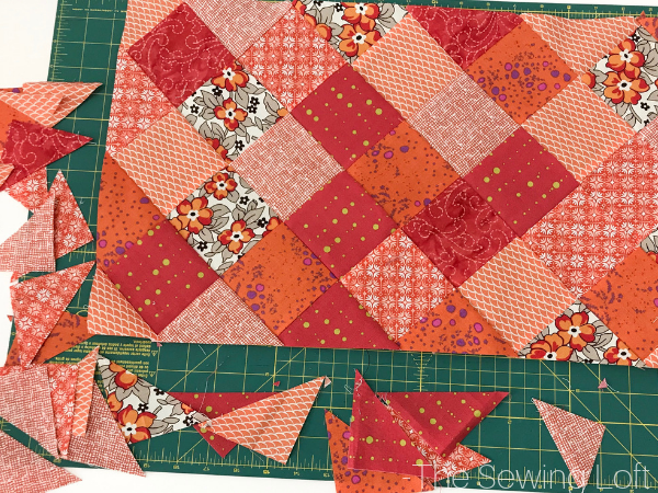 Turn your patchwork on point with this video class. Poppy Garden table runner pattern included.