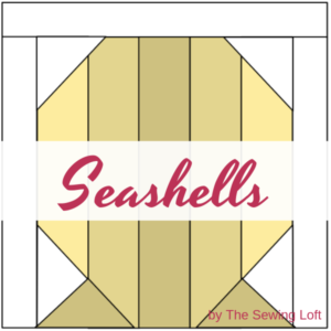 Grab your scraps and stitch up the Seashells Quilt Block! The block comes in 2 sizes and can be used in many different projects from home decor to quilts.