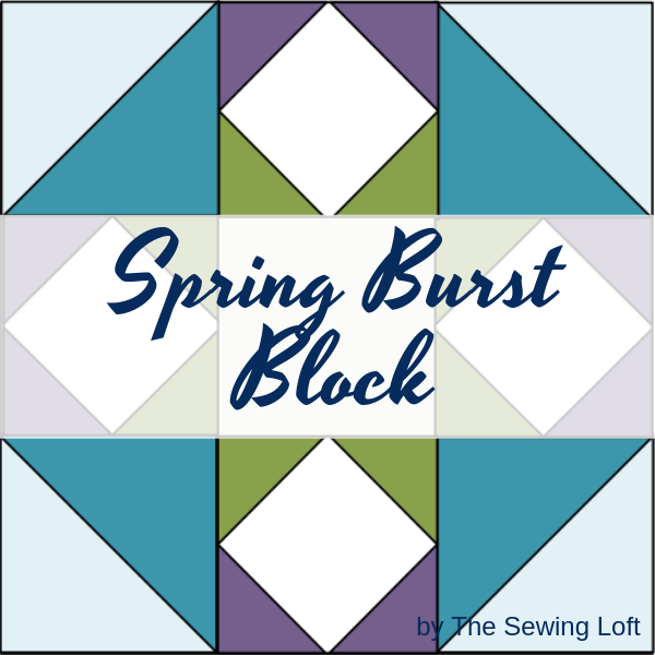 The Spring Burst Quilt Block is perfect for the confident beginner! It comes in 2 sizes and can be used in many different projects from home decor to quilts.#Block2Quilts