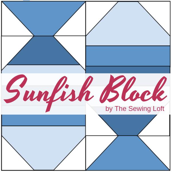 Sunfish Quilt Block   The Sewing Loft Blocks 2 Quilt