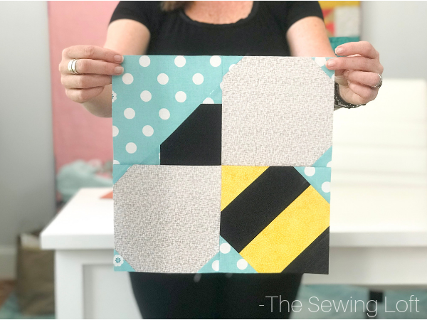 Add this whimsical Bumble Bee quilt block to your pattern library and join the Blocks 2 Quilt series on The Sewing Loft. Pattern includes 2 sizes. The Sewing Loft