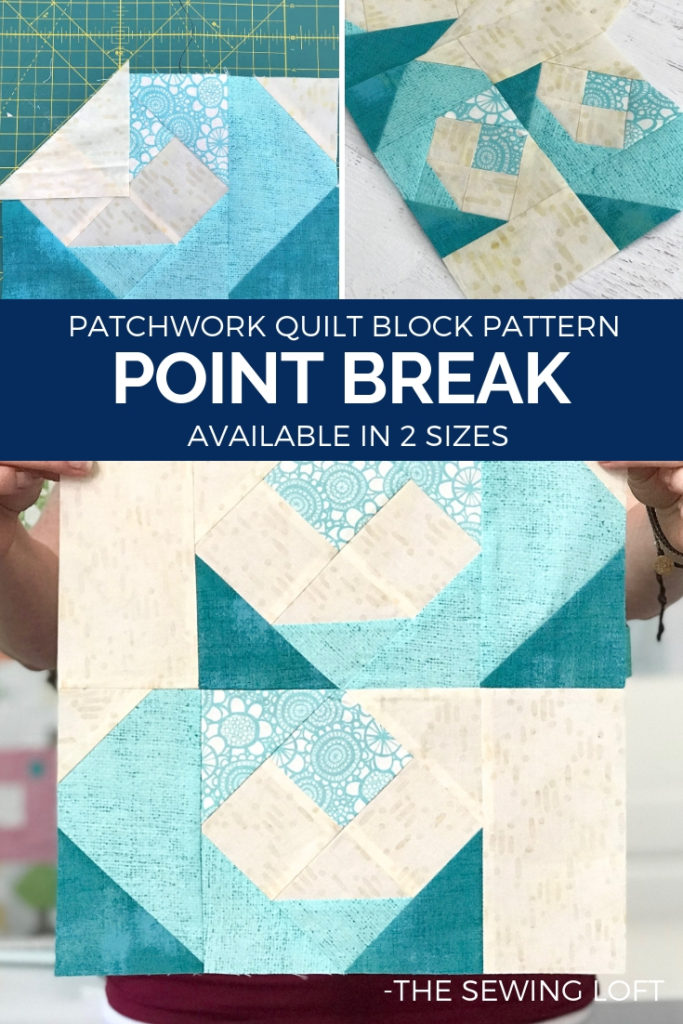 Point Break Waves Quilt Block Cover