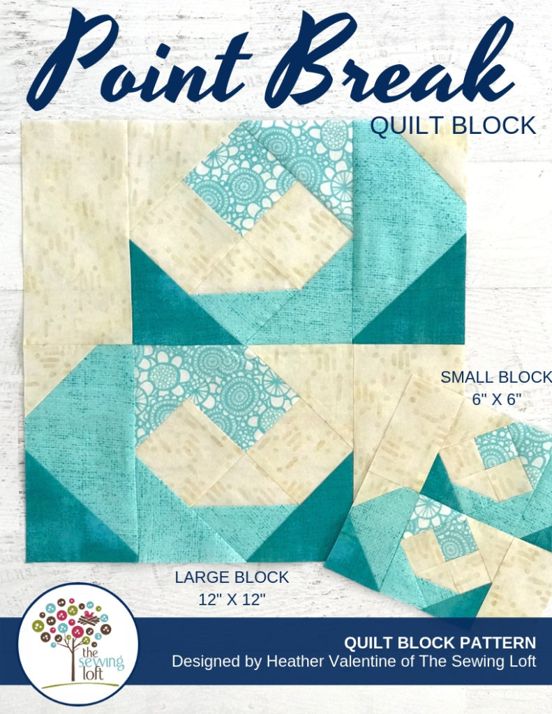 Point Break Waves Quilt Block | The Sewing Loft