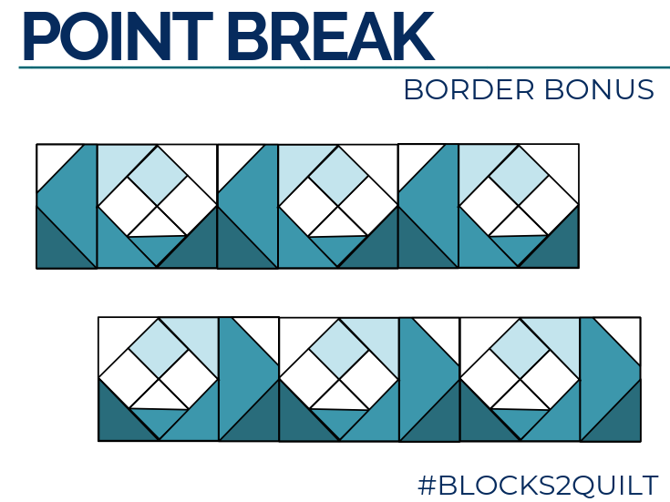 Waves Quilt Block Border Bonus | The Sewing Loft