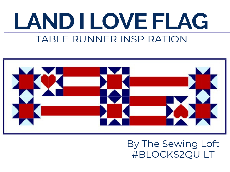 This scrappy flag quilt block is a great way to use your scraps for some patriotic flair. Land I Love Flag block quilt inspiration.