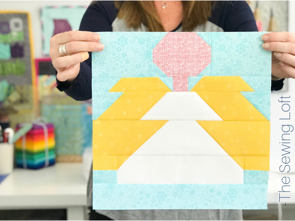 Christmas Angel Quilt Block | Patchwork Design by The Sewing Loft