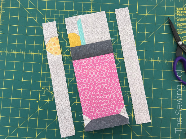 The Lemonade Spritzer quilt block is perfect to add to your library. This patchwork construction block is simple stitch with smaller parts. The Sewing Loft