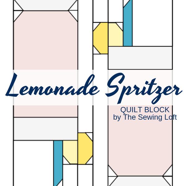 Lemonade Spritzer Quilt Block | The Sewing Loft