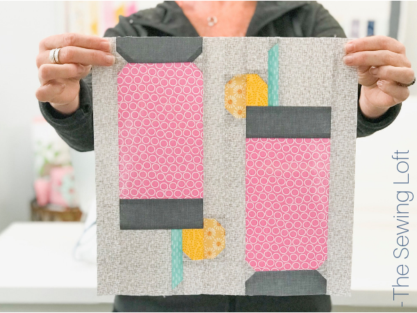 Add the Lemonade Spritzer quilt block to your library and stitch up a dose of summer. This patchwork construction block is simple stitch with smaller parts.