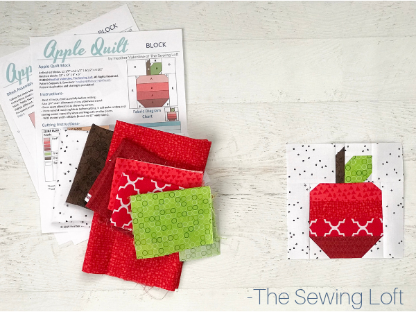 Apple Quilt Block Pattern | The Sewing Loft