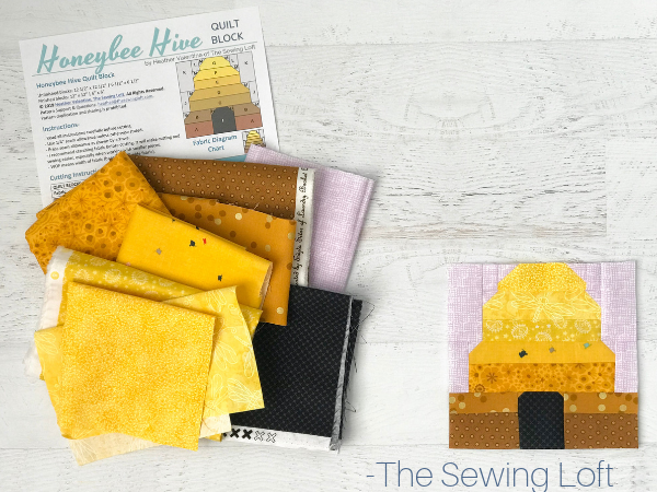 Honeybee Hive Quilt Block | The Sewing Loft