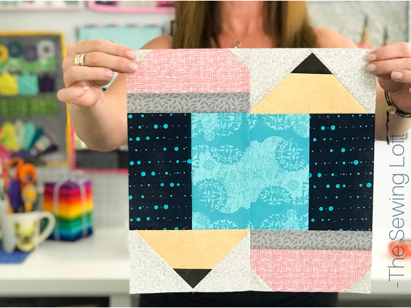 Pencil Point Quilt Block Pattern by The Sewing Loft