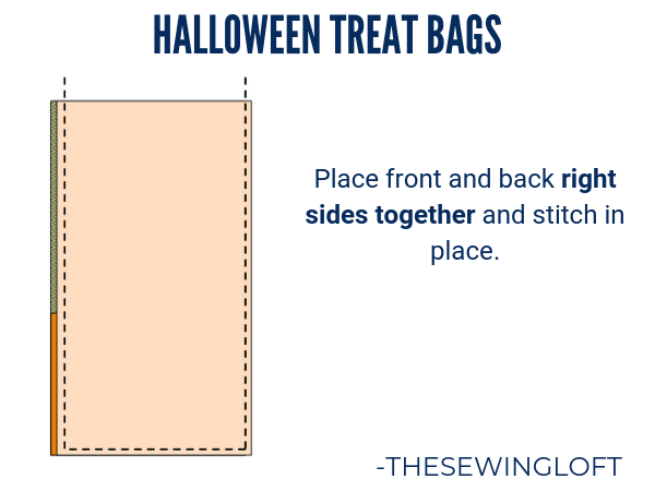 Easy to make Halloween Treat Bags | Free Pattern The Sewing Loft